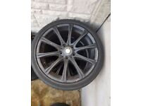 Bmw M5 18'' black Alloy Wheel SINGLE WHEEL CAN POST (MV1 MV2 MV3 MV4 M5 M6) (1 wheel)