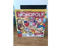 Unopened Monopoly junior party board game