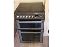 Hotpoint Ultima dual fuel cooker hud61 gas hobs and electric oven