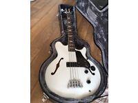 Epiphone Jack Casady Bass Guitar - Alpine White with Original Hard Case