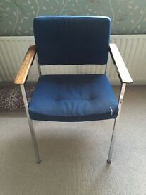 Vintage 1970s Steel Retro Desk Chair / Arm Chair - BATTERSEA SW11 COLLECTION