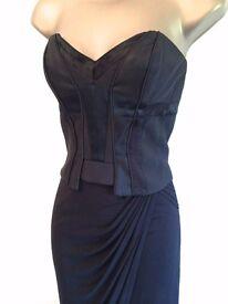 BNWT £165 Karen Millen wedding Occasion Ladies Corset Dress Black Size 6