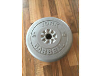 York Barbell Weights 5KG - 5 off in total for sale £10