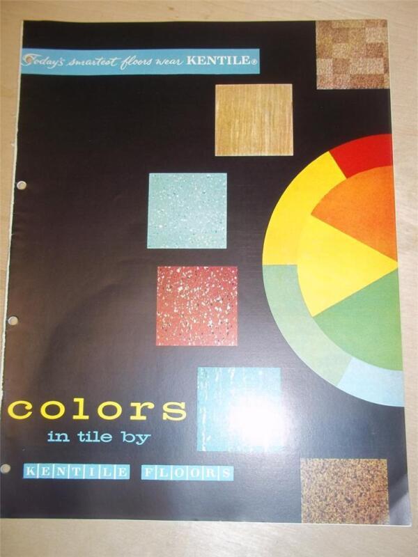 Kentile Floors Catalog~Asbestos~Flooring~Tile~1957