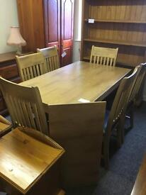 Extending dining table & 6 chairs * free furniture delivery*