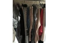job lot/bundle of 66 ladies clothing items - tops jumpers jackets all brand new with tags