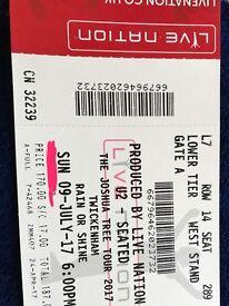 U2 Joshua Tree Tour Twickenham 9th July