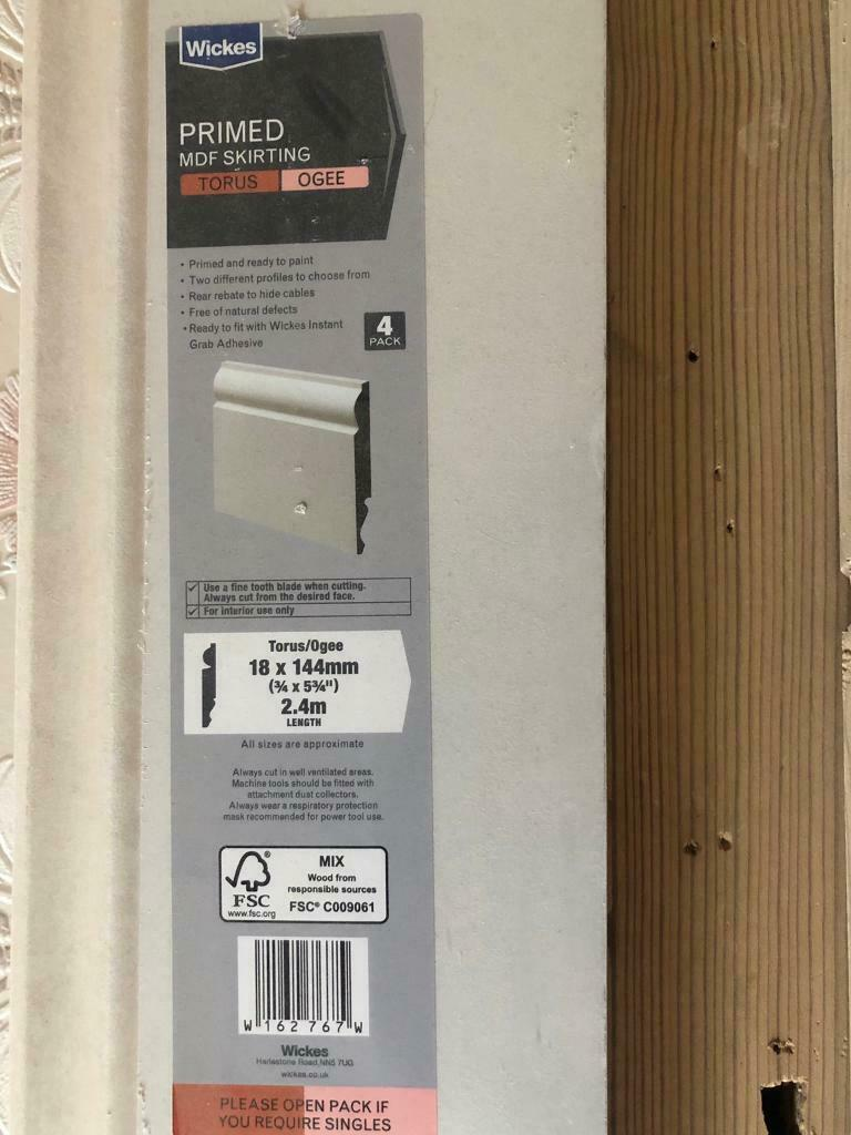 Primed MDF Skirting Boards | in Southsea, Hampshire | Gumtree