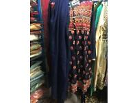 Pakistani India shalwar kameez new frock with buttons trouser