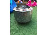 Washing machine drum garden heater