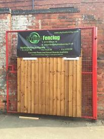 Heavy Duty,Vertical lap fence panels for sale 6x6 £25.00 each