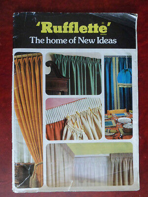 'Rufflette' curtain making instruction booklet, A4 size book. vintage   for sale  United Kingdom