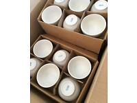 Job lot of white crockery only used once