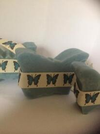 Butterfly soap with ribbon