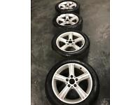 Genuine bmw 17 inch alloys and tyres