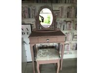 Dusky Blush dressing table and chair