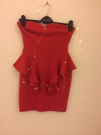 Lipsy red body con dress new, with tags as Seen On Michelle Keegan