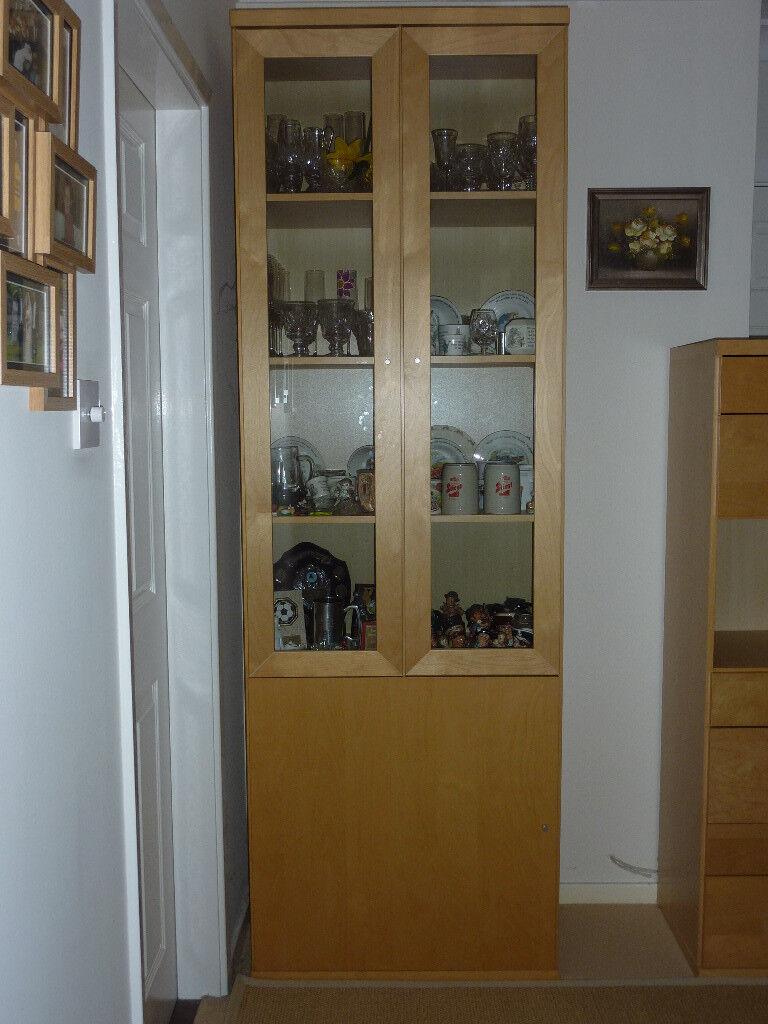 Ikea Bonde Tall Display Cabinet In Southwell