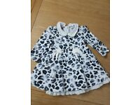 Baby girl beautiful dresses, coat and converse trainers