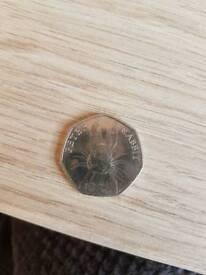 Rare peter rabbit 50p coin