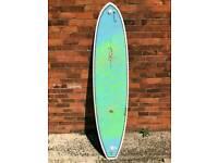 7'2 triboard surfboard