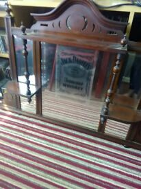 Vintage jack daniels pub mirror with shelving