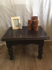 SOLID PINE coffee table lamp table SHABBY CHIC