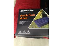 Eurohike double flock airbed with foot pump