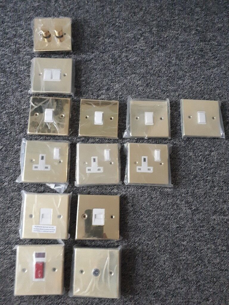 NEW gold household electric light switches/plugs etc   in Brighton ...