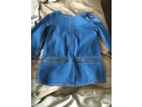 Girls Jean dress/top 0-3 months