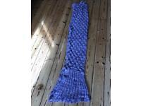 Mermaid tail blanket wool adult/teen/child pink/purple