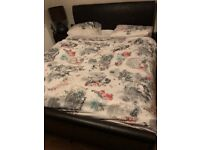 Used Faux Leather King Size Bed Available