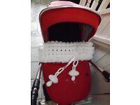 SILVER CROSS WAYFARER pram,/pushchair and raincover with bobble blanket+ insert