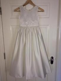 Flower girl dress 8-9 years • ivory • excl condition