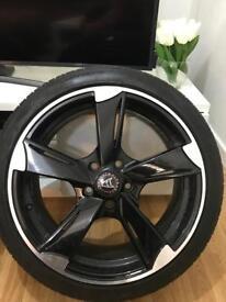 4x Audi & Vw wheels & tyres