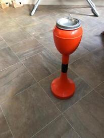 Modern orange ashtray