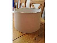 Natural Cream Linen Drum Lampshade,