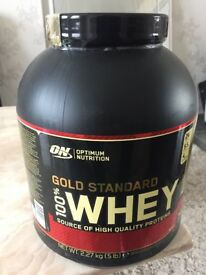 Optimum Nutrion Gold Standard 100% Whey, Brand New Sealed