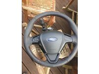 FORD FIESTA ZETEC S STEERING WHEEL AND COLUMN COMPLETE 2015