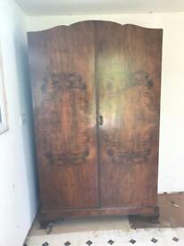Antique Walnut veneer wardrobe