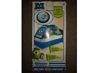 NEW Monsters Inc / University Bed tent for single bed with push light