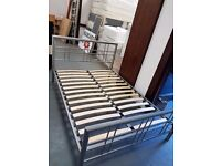 Double bed frame in Silver Alloy Excellent condition