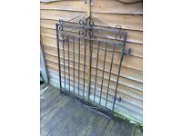 wrought iron garden gate £15 solid and sturdy