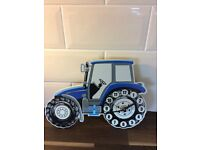 Blue tractor clock for sale