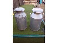 Old milk urns