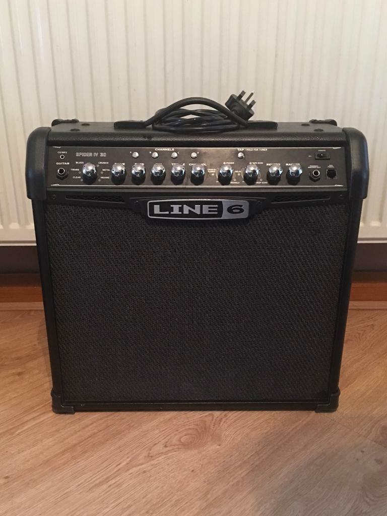 Line 6 spider 4 amplifier 30 amp and FBV2 pedalin Bootle, Merseyside - Line 6 spider 4 amplifier 30 amp plus Line 6 FBV2 Pedal Both in used but good condition and comes with power lead £50