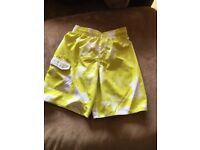 BNWOT quicksilver swim shorts age 14