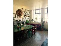 Large room in lovely friendly warehouse, Stoke Newington