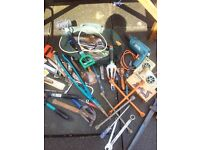 LARGE JOBLOT TOOLS WITH DRILL