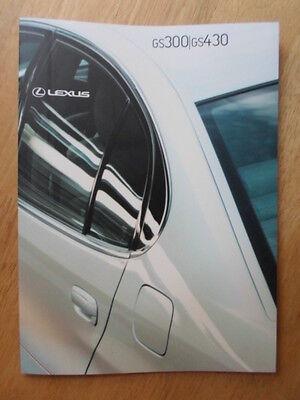 LEXUS GS300 & GS430 orig 2000 2001 UK Mkt Prestige Sales Brochure